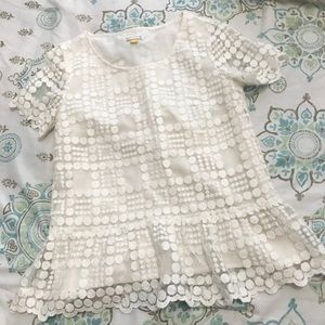 Leifsdottier Anthropologie lace peplum blouse